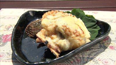 ヒオウギ貝の味噌クリームグラタン