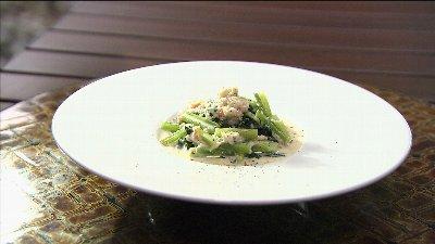小松菜の蟹クリーム煮