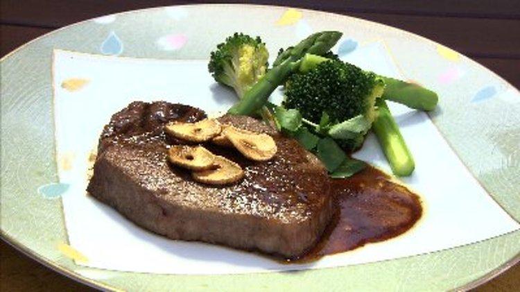 伊予牛絹の味ヒレ肉のステーキ 赤ワインソース