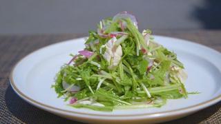 鶏ささみと水菜の塩麹サラダ