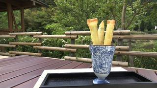 アスパラガスとチーズのスプリングロール