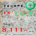 愛媛 佐田岬産 『 釜揚げしらす 5kg 』 【送料無料】