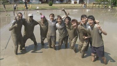 泥まみれの熱戦で真剣勝負!