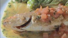 ソースが絶品 食べごたえ満点の魚のムニエル